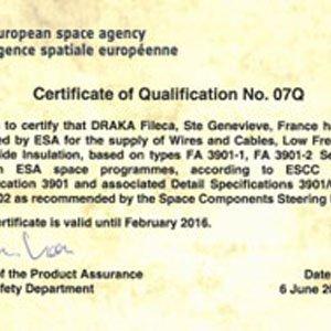ESA vertraut weiterhin auf Draka Fileca