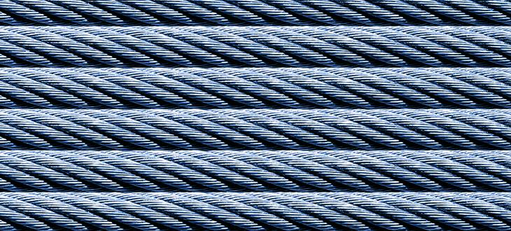 Drahtseile, Seilgewichts-<br>ausgleichsketten und Zubehör